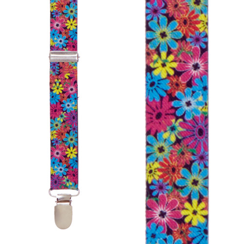 Flower Suspenders - Front View