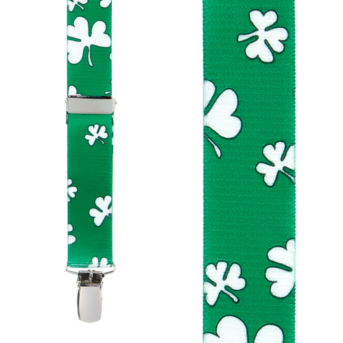 Shamrock Suspenders for Kids - Front View