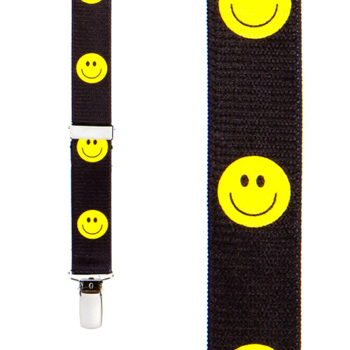Happy Face Suspenders for Kids Front View