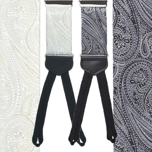 45dc043e6 FORMAL PAISLEY Silk Tuxedo Suspenders