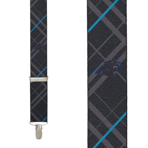 Carolina Panthers Suspenders - Front View