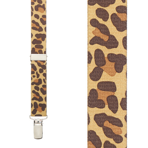 Leopard Print Suspenders - Front View