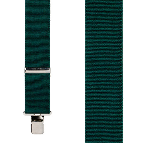 Classic Suspenders in Green - Front View