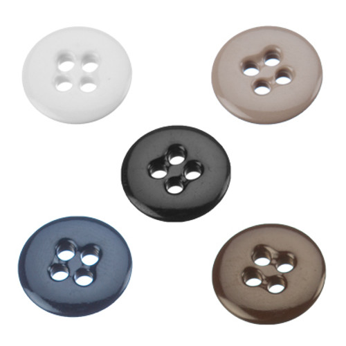 Sew On Buttons available in five colors