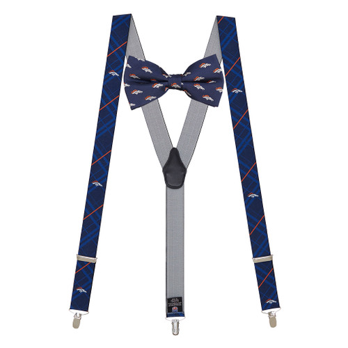 Denver Broncos Bow Tie & Suspenders Set - Full View