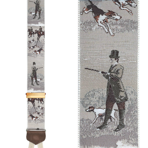 Fox & Feather Suspenders - Front View