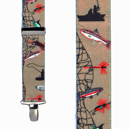 Front View - Fisherman Suspenders 1.5 Inch Wide - Dressy Clip