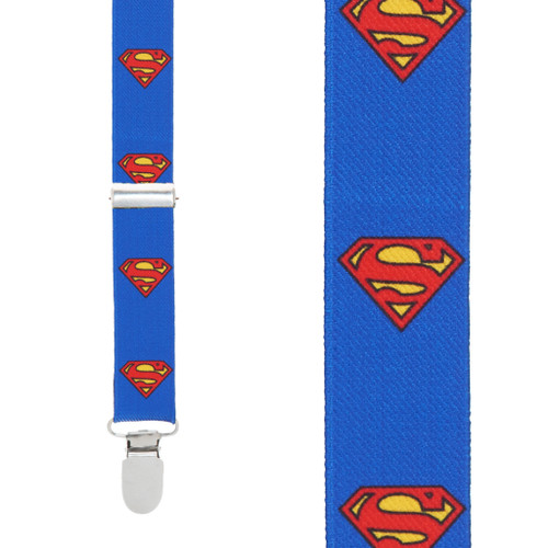 Superman Suspenders - Front View
