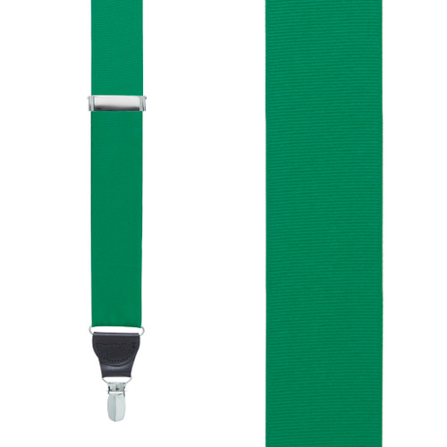 Grosgrain Suspenders in Kelly Green - Front View