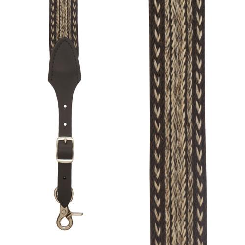 Horsehair Suspenders - EARTHWEAVE - Front View