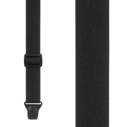 BuzzNot Suspenders in Black - Front View
