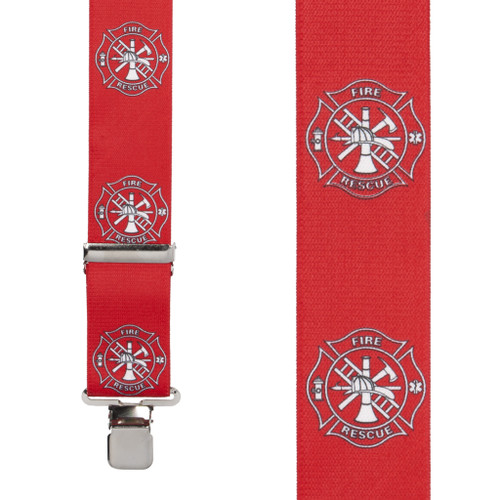 Fire & Rescue Suspenders - Front View