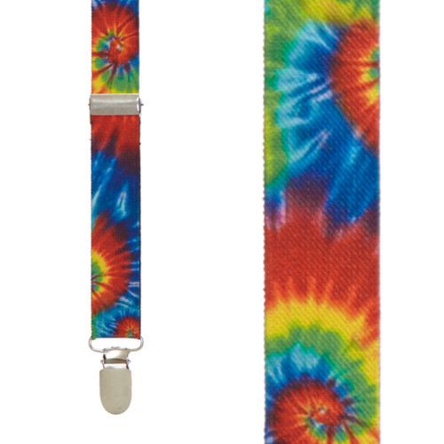 Tie-Dye Swirl Suspenders - Front View