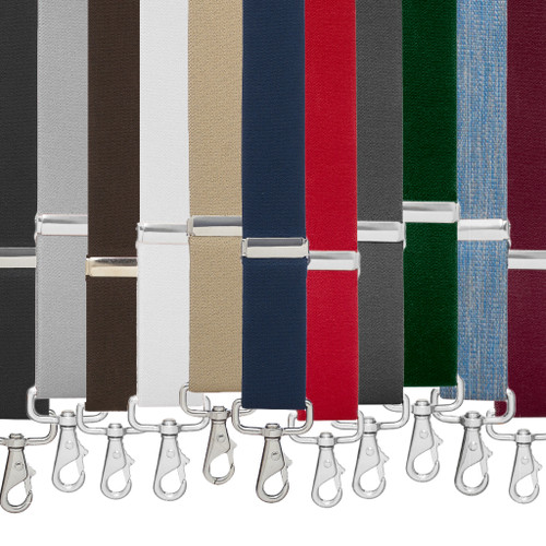 1.5 Inch Wide Trigger Snap Suspenders - All Colors