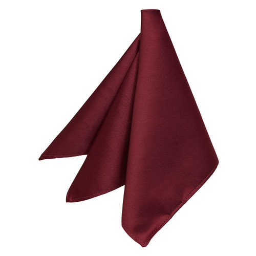 Pocket Square in Burgundy - Front View