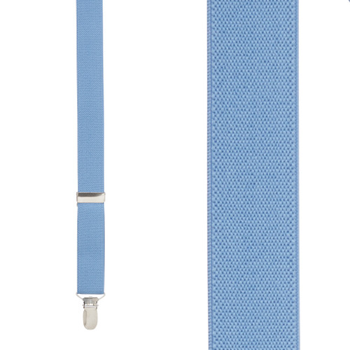 Periwinkle Suspenders 1 Inch Wide - Front View