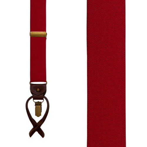 Tommy Hilfiger Red Convertible Suspenders - Front View