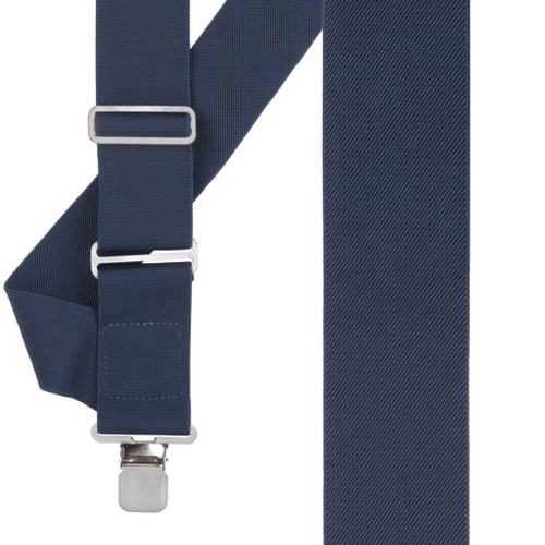 Navy Blue Side Clip Suspenders - Construction Clip - Front View