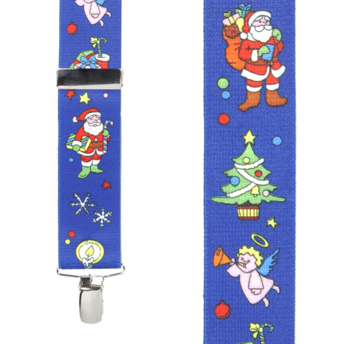 Santa on Blue Suspenders - Front View