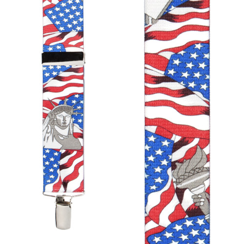 Front View - USA Liberty Suspenders - 1.5 Inch Wide