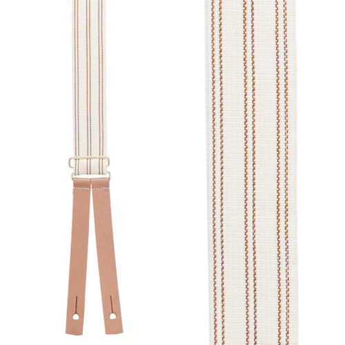 Civil War Suspenders in Red - Front View