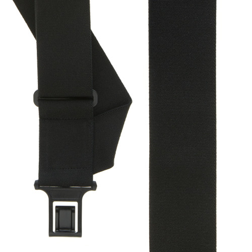 Perry Suspenders - Front View - Black Side Clip Elastic