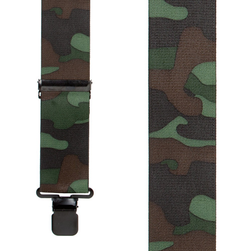 Woodland Camo Suspenders - Front View