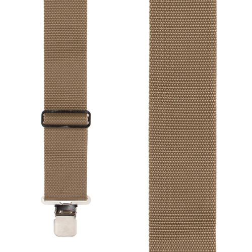 Heavy Duty Work Suspenders - TAN - Front View