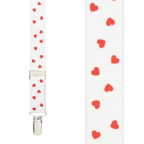 Hearts Suspenders - Front View