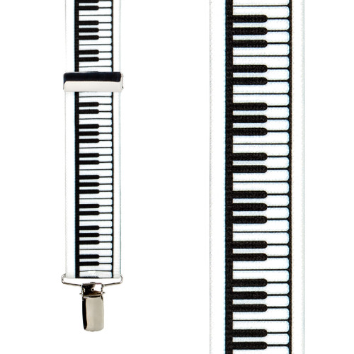 Piano Keys Suspenders - Front View