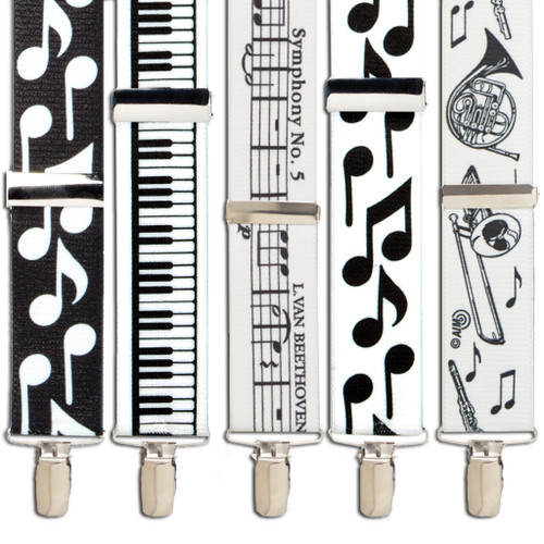 Music Suspenders - All Designs