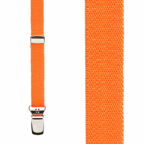 Skinny Suspenders in Neon Orange - Front View