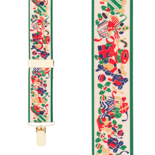 Christmas Presents Suspenders - Front View