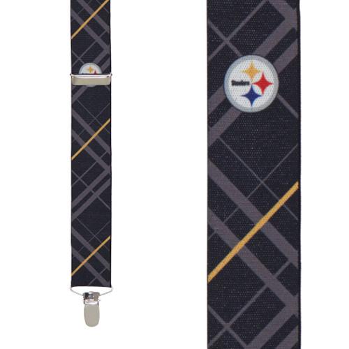 Pittsburgh Steelers Suspenders - Front View