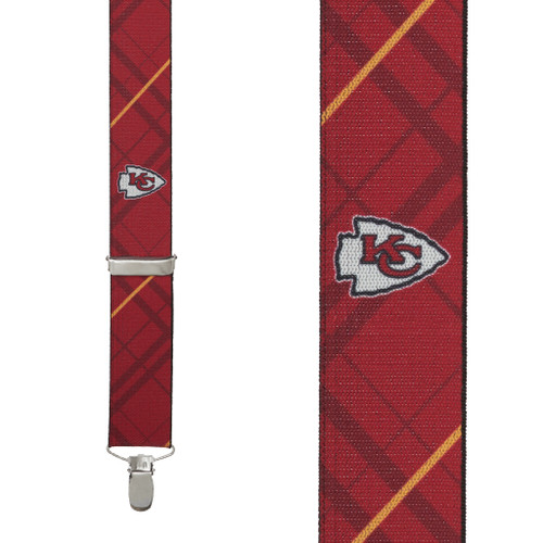 Kansas City Chiefs Suspenders - Front View
