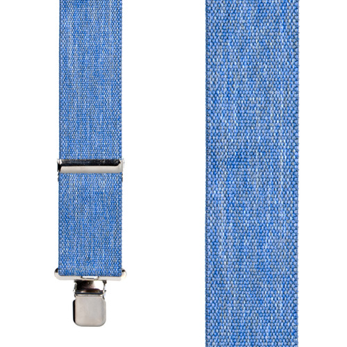 Classic Suspenders - Front View - Denim