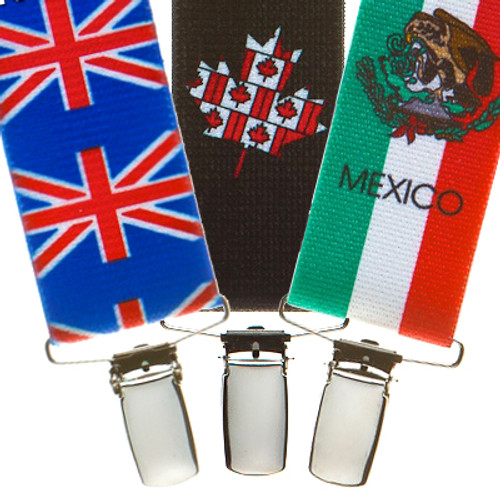 Flag Suspenders - All Designs