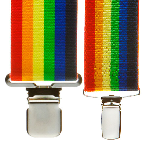 Rainbow Suspenders in Different Widths