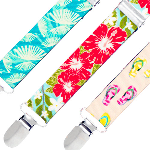 Tropical Hawaiian Suspenders - All Designs