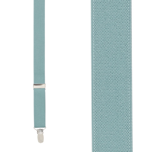 1 Inch Wide Clip Y-Back Suspenders in Seafoam - Front View