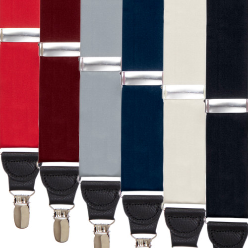 Bangkok Silk Drop Clip Suspenders - All Colors