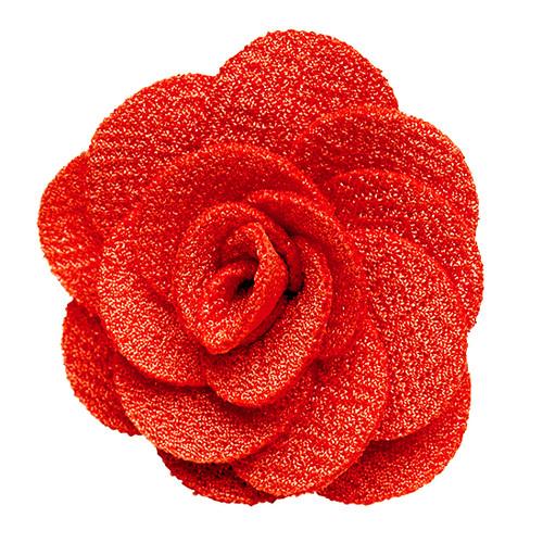 Lapel Flower Coral