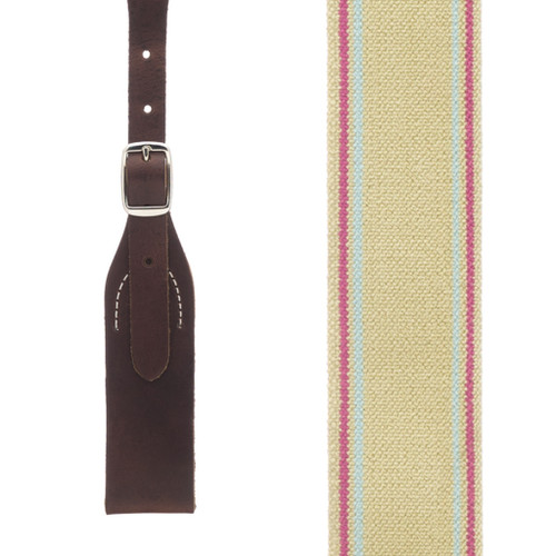 Rugged Comfort Suspenders in Sage Green - Front View