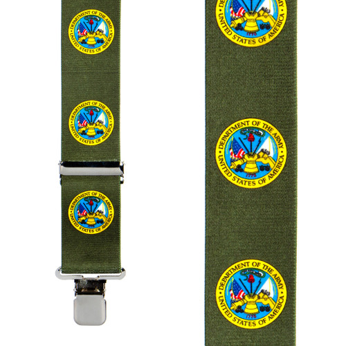 US Army Suspenders - Front View