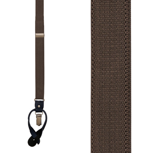 Tommy Hilfiger Thin Grey Suspenders - CONVERTIBLE Front View
