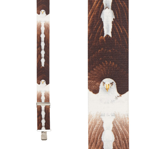 Eagle Suspenders - 2-Inch Wide, Clip Front View