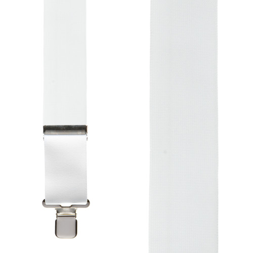 Classic Suspenders - Front View - White