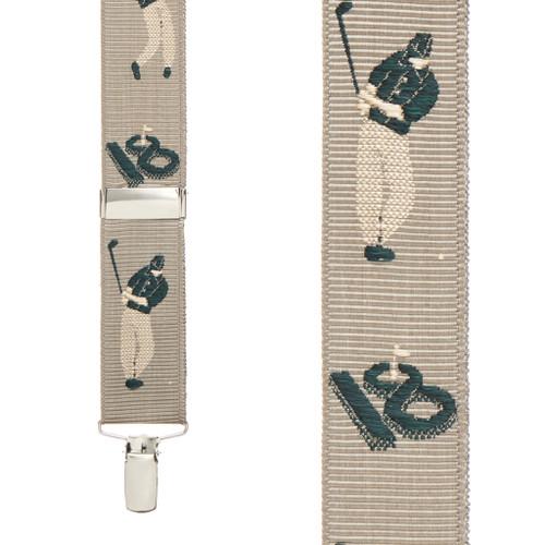 Grosgrain Clip Suspenders - Golfer Front View