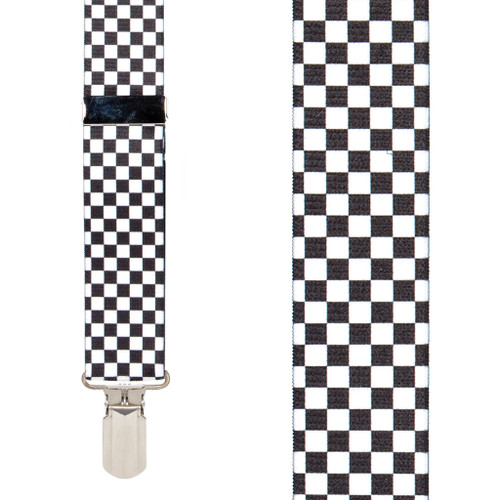 Checkered Suspenders - Front View