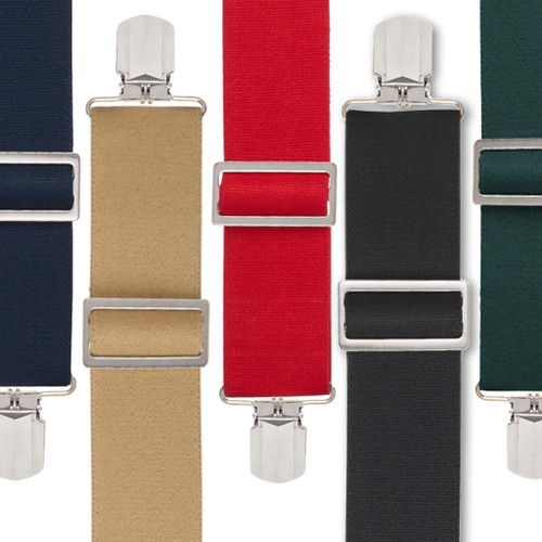 Pin Clip Suspenders - All Colors